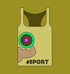 Flat icon on stylish background sports shirt vector