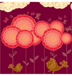 flower field background vector image