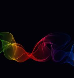 for curl motion design vector image