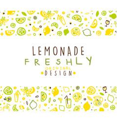 freshly lemonade banner template refreshing vector image