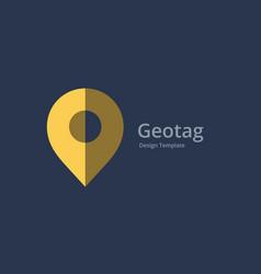 geotag or location pin logo icon design vector image