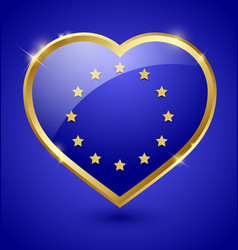 Glossy european heart vector
