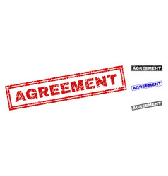 grunge agreement scratched rectangle watermarks vector image