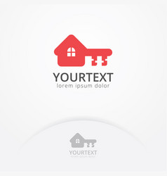 house key logo vector image