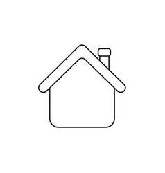 Icon concept house with roblack outline vector