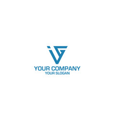Ig triangle logo design vector