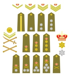 Insignia of the Royal Greek Army vector