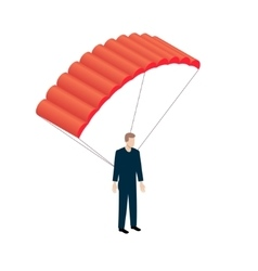 Isometric Parachutist icon vector