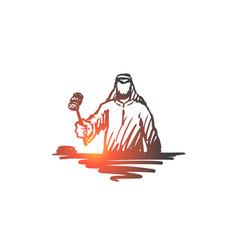 Justice judge indictment muslim concept hand vector