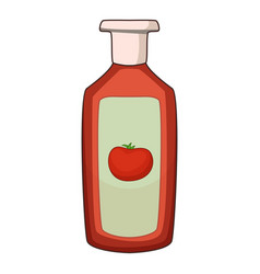 ketchup icon cartoon style vector image