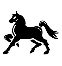 Knight horse mascot icon simple style vector