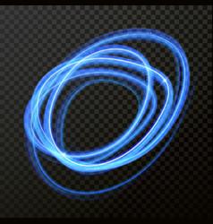 light line neon swirl effect glitter circle light vector image