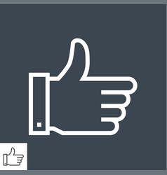 like thin line icon vector image