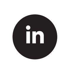 linkedin icon vector image