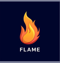Logo flame gradient colorful style vector