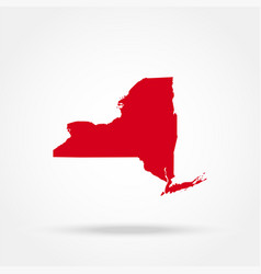Map us state new york vector
