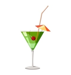 Martini glass of cocktail icon isometric 3d style vector image