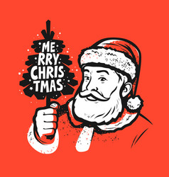 merry christmas santa claus pop art style vector image