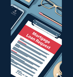 Mortgage loan request - handsome halftone vector