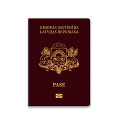 Passport latvia vector