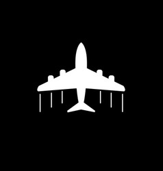 Plane icon airplane flat on grey background vector