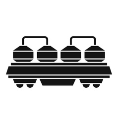 Rail wagon for cement icon simple style vector image