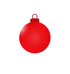 red ball with edges christmas decorations vector image