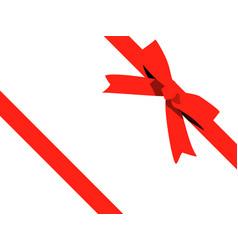 red bow cartoon red ribbon satin bow for xmas vector image