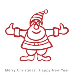 Red santa claus on white background vector image
