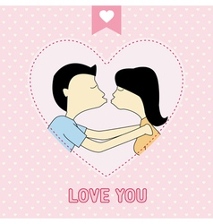 Romantic card76 vector image