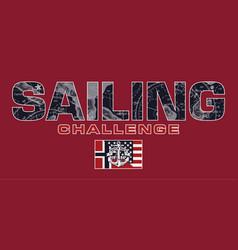 Sailing challenge match race vector