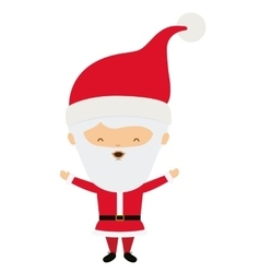 Santa cartoon of Merry Christmas design vector image