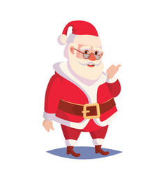 santa claus isolated classic santa in red vector image