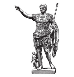 Sculpture augustus is common to call him vector