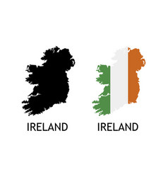 Silhouette ireland on white color vector