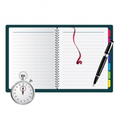 stopwatch and stationery vector image