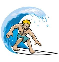 Surfer enjoying wave vector
