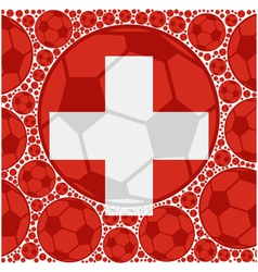Switzerland soccer balls vector