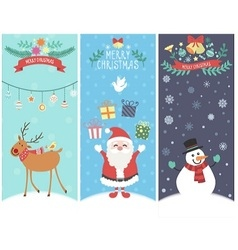 The cute christmas graphic cartoon design vector image