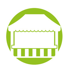 ticket shop carnival icon vector image