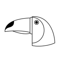 Tucan draw vector