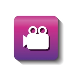 Video camera silhouette isolated icon vector