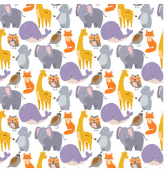 whale zoo animals seamless vector image