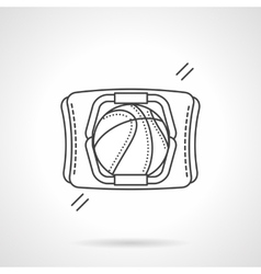Basketball accessory flat line icon vector image vector image
