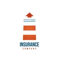 Insuramce company logo template with lighthouse vector image vector image