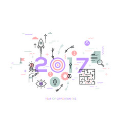 new trends prospects and predictions in business vector image