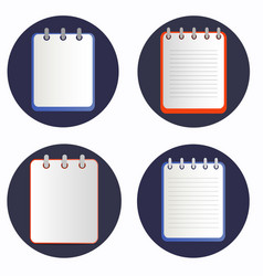 notepads on the rings vector image vector image