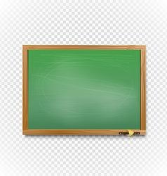 School blackboard on transparent background Back vector image vector image