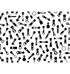 seamless zipper pullers background vector image