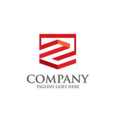 best letter z geometric logo symbol vector image vector image